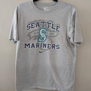 Nike Seattle Mariners Baseball Gray T-Shirt Medium